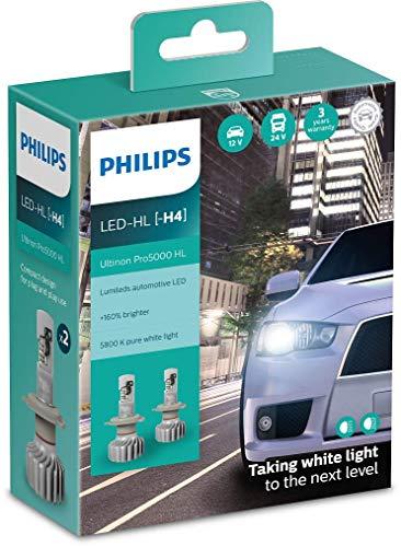 Philips Ultinon Pro5000 LED faros delanteros (H4), paquete doble