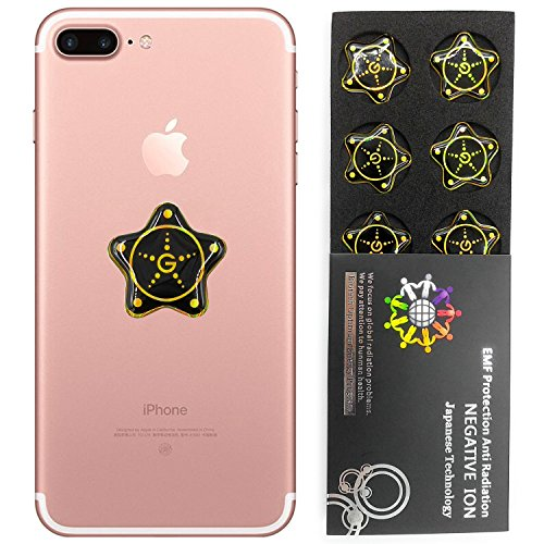Anti Radiation Protector Shield Sticker, EMR Protection Blocker, EMF Neutralizer Patch Energy Saver Scalar Ion voor alle mobiele telefoons, iPad iPod, MacBook,Computer, Laptop