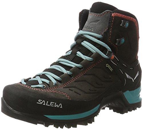 Salewa Damen WS Mountain Trainer Mid Gore-TEX Trekking- & Wanderstiefel, Magnet/Viridian Green, 39 EU