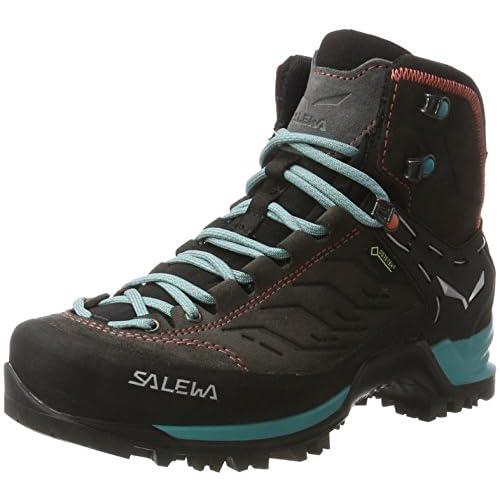 SALEWA Mtn Trainer Mid Gtx, Scarpe da trekking Donna, Grigio (Magnet / Viridian Green 0674) , 36 EU