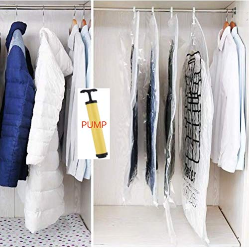 ZUKUN Hanging Vacuum Space Saver Bags for Clothes 4 Pack 2 Pack 433x264 and 2 Pack 354x264 Vacuum Seal Storage Bag Clothing Bags for Suits Closet Organizer and Storage
