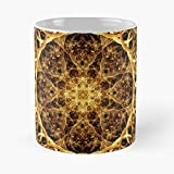 Chakra New Age Sacred Spiritual Mandala Geometry Flower Meditation Fractal Best 11 Ounce Ceramic Coffee Mug Customize
