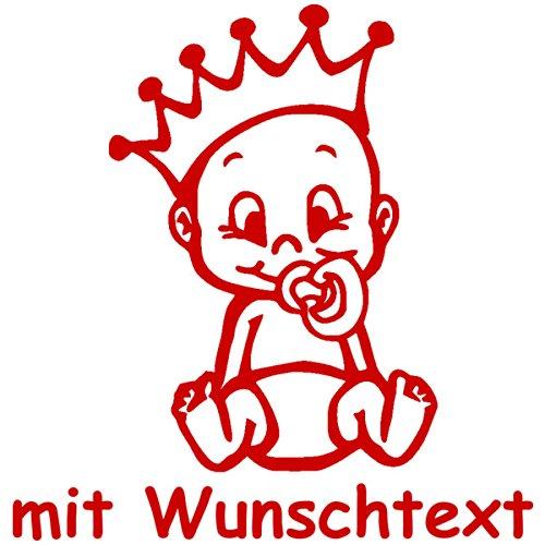 Babyaufkleber mit Name/Wunschtext - Motiv 733 (16 cm) - 20 Farben und 11 Schriftarten wählbar