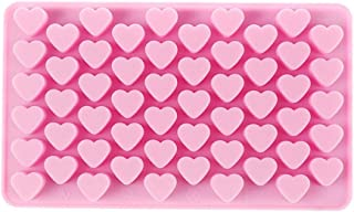 55 Hole Heart Shape Love Candy Silicone Decorating Mold Ice Cube Tray Silicone Chocolate Sugar Paste Tool Cookie Muffin Ba...