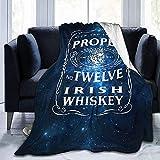 Teash 12 Mantas inspiradas en el Whisky irlandés Mcgregor Adecuado Manta de vellón de Franela Queen Size Cama Ligera y acogedora, 50 'X60'