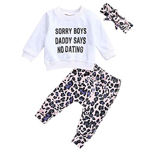 Geagodelia 3tlg Babykleidung Set Baby Mädchen Kleidung Outfit T-Shirt Top/Body + Hose/Shorts Neugeborene Kleinkinder Weiche Babyset 0-4 Jahre (0-6 Monate, Hosen & Top Sets - Weiß)