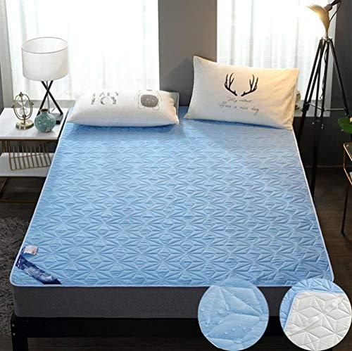 SK Studio Protège Matelas,Mattress Protector Imperméable avec 4 Coins Elastiques Bleu 180x200cm