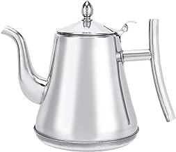 【2021 promocja nowororoczna】Dzbanek do kawy, srebrny z kotłem napływającym, do restauracji hotelowej (1,8 l)