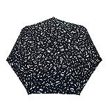 SMATI Paraguas Plegable Música Nota Compacto Solido y Anti Viento con apuerta y Cierre automatica