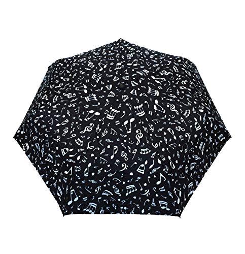 SMATI Parapluie Femme Note de Musique - Resistant au Vent - Parapluie Pliant Automatique