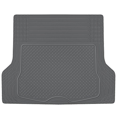 BDK Heavy Duty Cargo Liner Floor Mat-All Weather Trunk Protection, Trimmable to Fit & Durable HD Rubber Protection for Car SUV Sedan Auto, Gray (MT785GRAMw1)