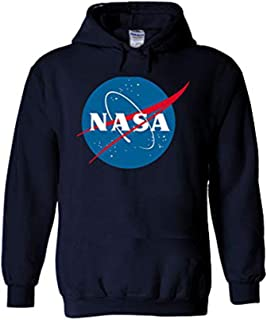 NASA National Space Administration Logo Navy Men Women Unisex Hooded Sweatshirt Hoodie