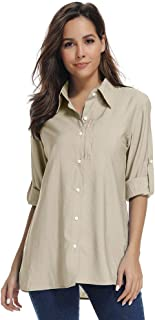 Women's Sun UV Protection Outdoor Short Sleeve Breathable Hiking Fishing Shirt Quick Dry