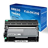 KALOKING Compatible Drum Unit and Toner Cartridge Replacement for Brother DR630 DR-630 TN630 TN-630 TN660 TN-660 for HL-L2300D DCP-L2540DW MFC-L2700DW MFC-L2740DW Printer (1 DR630,1 TN660 Combo Pack)