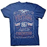 53rd Birthday Gift Shirt - Vintage Aged to Perfection 1967 - Royal-003-Md
