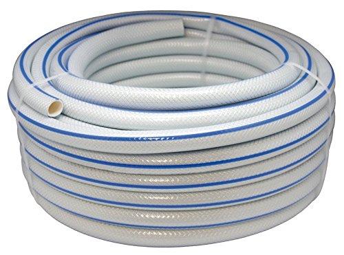 Aqua Control 51925 25 25 meter tuinslang gevlochten 19 mm diameter wit met blauwe lijst.