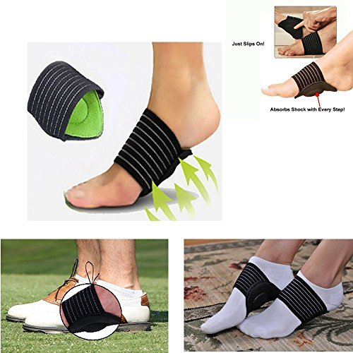 Sozzumi® Arch support footwear for flat feet, Foot curve support, Helps Decrease Plantar Fasciitis Pain Relief , Cushion Foot corrector for Men and Women(1 Pair)
