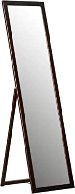 "Infinite Reflections Full Length Self Standing Dressing Mirror/Bedroom Mirror/Makeup Mirror/Floor Mirror (Black) - 15"" x 55"""