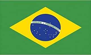 "TrendClub100 Fahne Flagge ""Brasilien Brazil BR"" - 150x90 cm / 90x150cm"