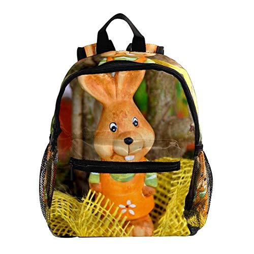 Cartoon Osterhase Rucksack süße 12-Zoll-Mini-Pack-Tasche für Kinder Jungen oder Mädchen Schultasche und Frauen Tagesrucksack 25.4x10x30cm
