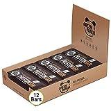 Barritas proteicas veganas sin azúcar, mas del 20% de proteínas vegetales (proteínas de semillas de calabaza, cáñamo y semillas de girasol), 12x30g sabor 'Brownies de chocolate' de Green Panda
