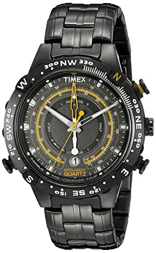 Timex Men's T2P139 Grey Stainless Steel Intelligent Quartz Tide Temperature Compass Watch