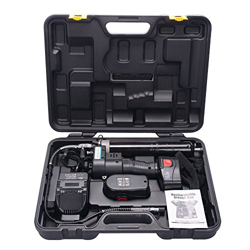HM&FC Lubrication 18 Volt Cordless Grease Gun with 2...