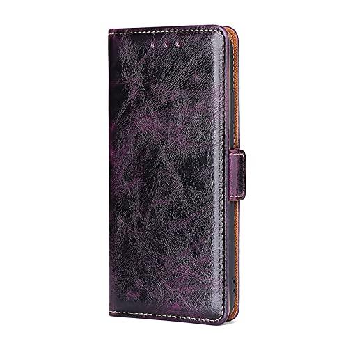 SCRENDY Funda Xiaomi Mi 11 Lite 5G/4G, Carcasa con Cierre Magnético,Tarjetero y Suporte, Capa Plegable Cartera,Flip Phone Cover Case,Tipo Étui Piel Protección, Púrpura