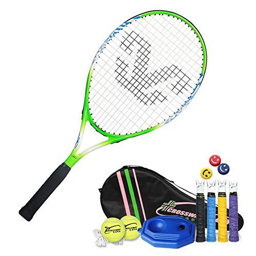 FXQIN Juego de Raquetas de Tenis, Raquetas de Tenis Juego de niños con 2 Pelota De Tenis Y Bolsa De Cubierta, 25 Pulgadas Raquetas De Tenis para niños y Adolescentes