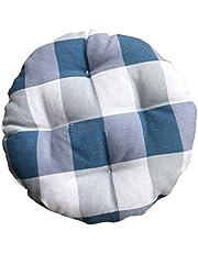 Levoberg - Funda de Taburete Redondo de Tela y algodón, cojín de Asiento Grueso Acolchado para Silla, #4, 35cm