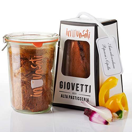 Panettone Salato Peperoni e Cipolla Artigianale in Vasocottura | 280gr | IN-VASATI® | Novità...
