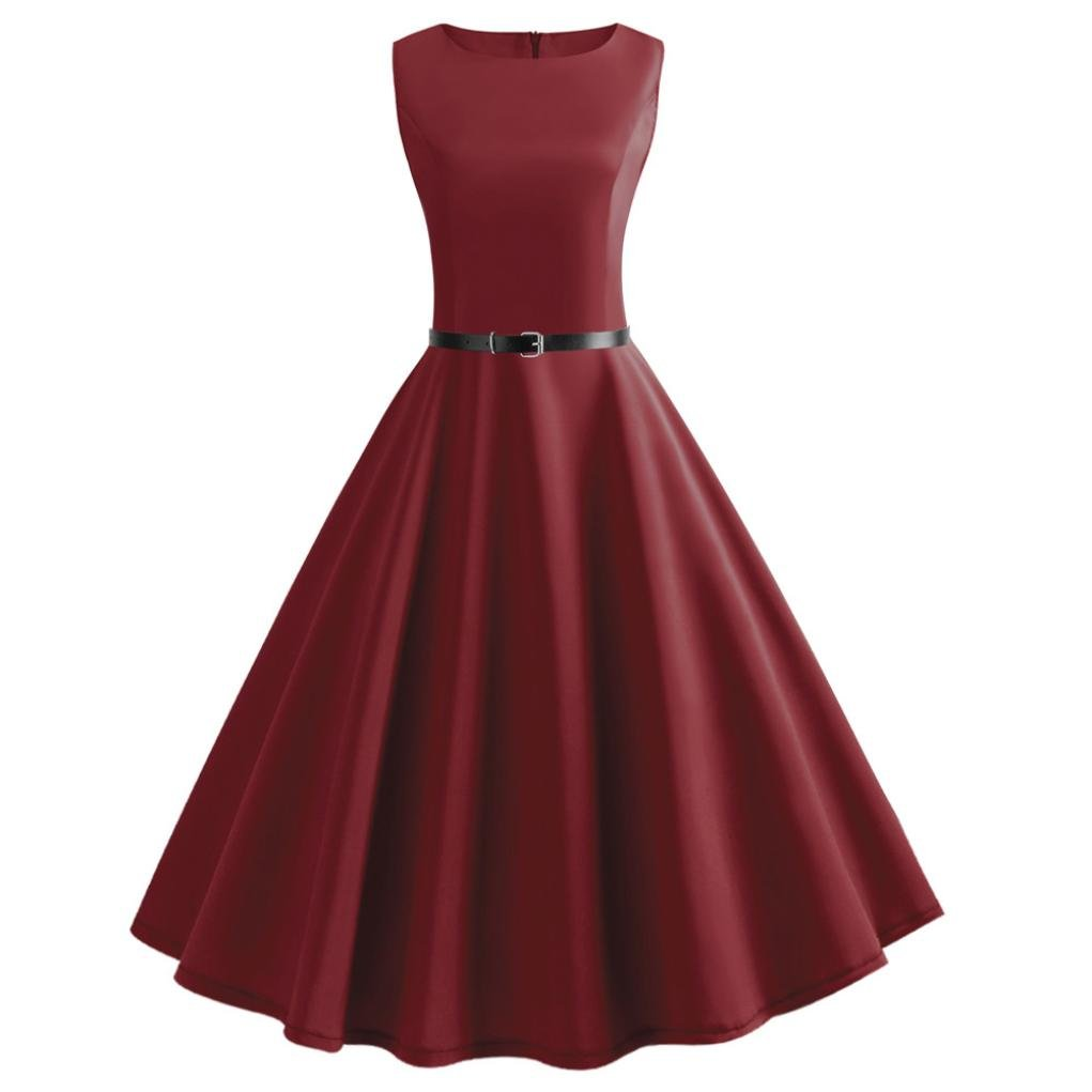 Available at Amazon: Women Vintage Sleeveless O Neck Evening Vintage Gown Party Prom Swing Dress