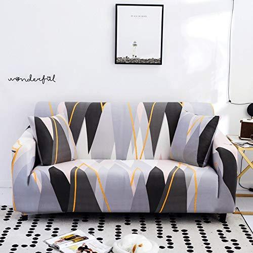 ASCV Fundas de sofá con Estampado Floral para Sala de Estar Funda elástica elástica Fundas de sofá de Esquina seccionales A1 4 plazas