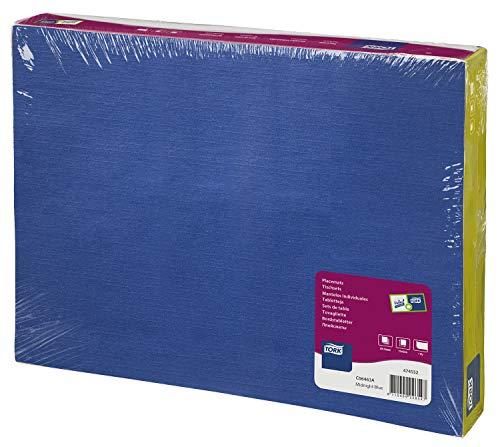 Tork 474552 Sets de table jetables Advanced / un pli - rectangulaire - 42cm x 31cm - 500 items - Bleu foncé