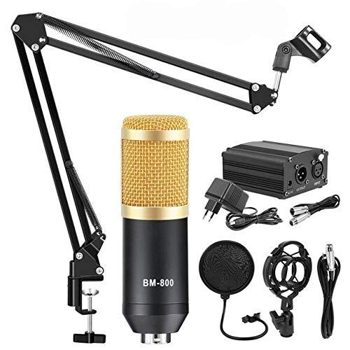 Mihify Microfono a Condensatore kit, BM-800 Mic Set con braccio a forare regolabile