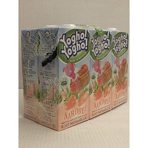 Yogho Yogho Joghurt-Drink, Erdbeere, 6 x 1l Karton Pack (aardbei)