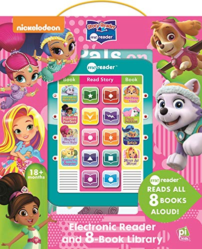 Nickelodeon PAW Patrol, Shimmer and Shine, and more! - Me Reader Electronic Reader and 8 Book Library - PI Kids