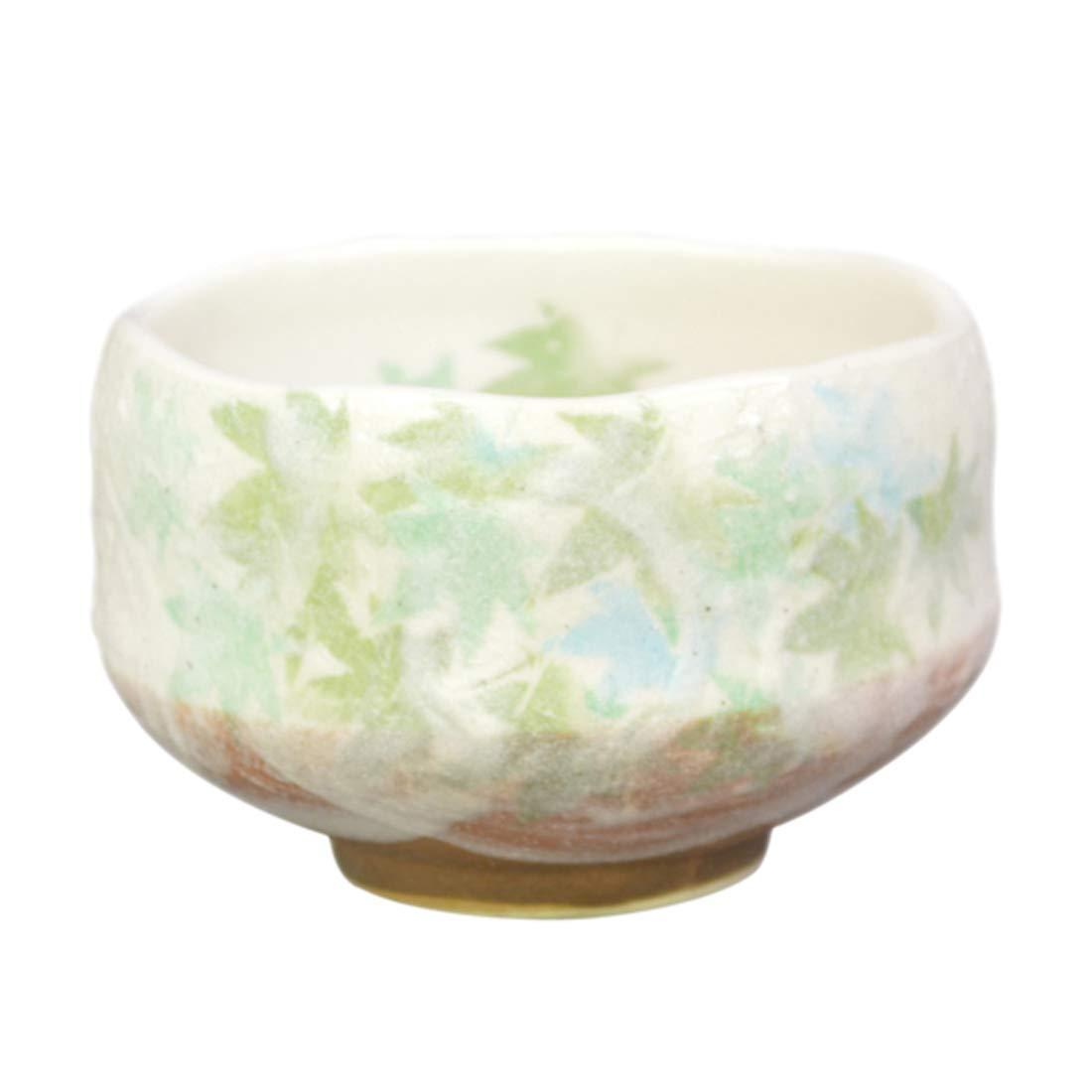 フェデレーションのヒープエトナ山豊窯(Yutakagama) 抹茶碗 黄緑 サイズ:直径9.6x高さ6cm 小茶碗 青楓