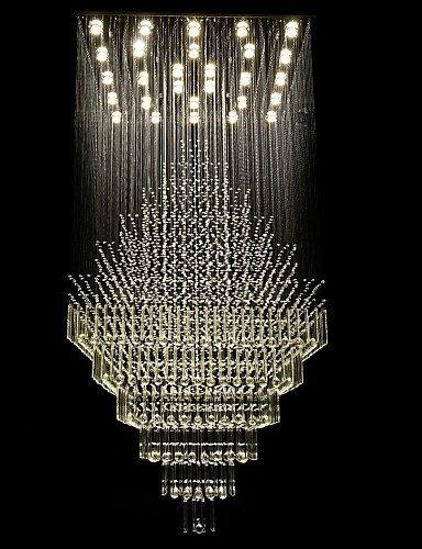 yule 4W Contemporaneo Cristallo/LED Galvanizzato Metallo Lampadari Salotto/Sala da pranzo white-220-240v