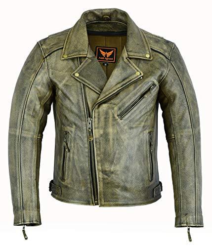 HARBETH Men's Athletic Fit Full Zip Fleece Hooded Sweatshirt Active Hoodie H.Army/H.Charcoal M