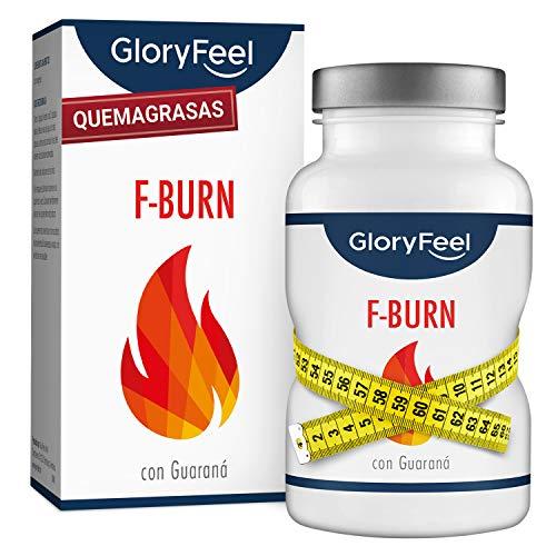GloryFeel® F-BURN Quemagrasas potente - Fat-Burner 120 pastillas para adelgazar muy rápido - Supresor de apetito vegano - Té y café verde + extracto de guaraná - Sin aditivos hecho en Alemania