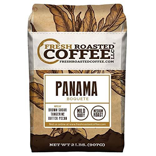 Fresh Roasted Coffee LLC, Panama Boquete Coffee, Single Origin, Medium Roast, Whole Bean, 2 Pound Bag