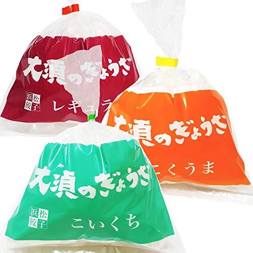 浜松餃子 大須のぎょうざ 3味バラエティーセット 全60個入 [ レギュラー味 vs こいくち味 vs こくうま味(各20個入)]