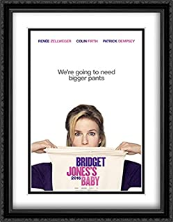 Bridget Jones's Baby 28x36 Double Matted Large Large Black Ornate Framed Movie Poster Art Print