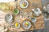 Sänger Dinner Service Pompei aus Porzellan 12 teilig für 4 Personen | Füllmenge der Schalen 700 ml | Tellerset im Vintage-Stil Grau Braun, Geschirrset, Porzellanservice - 5