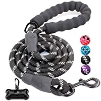 🐶 STRONG AND DURABLE - Our dog leads are made of high quality climbing nylon ropes, plus a unique high density anti-bite layer design inside. The strength is nearly 2x that of the same type of rope! Weight only 0.5 pounds, light and sturdy enough for...