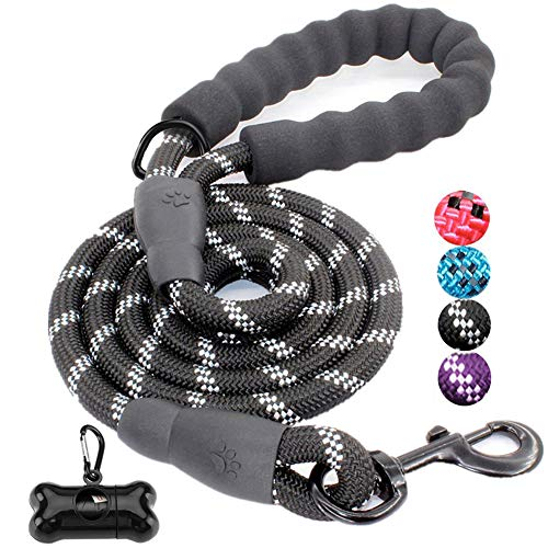 JBYAMUK 5 FT Strong Dog Lead with Comfortable Padded Handle and Highly...