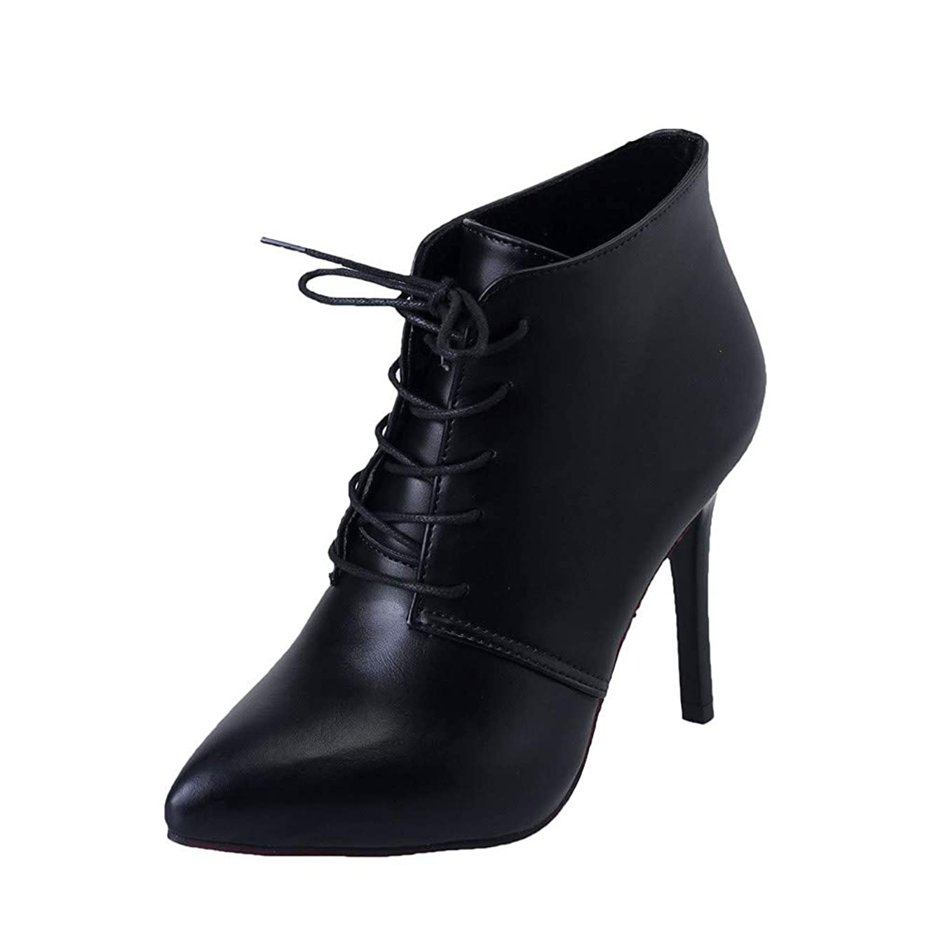 Hunzed women shoes Casual Pointed high Heel Sexy lace Ankle Boots