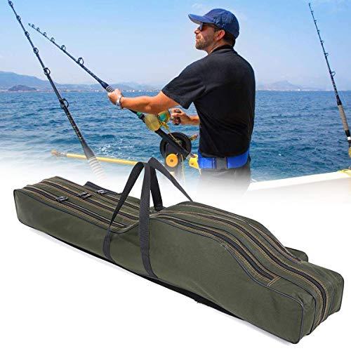 KIKIRon Boîte de pêche 1.2M pêche Pliante Portable Outils Rod Sac de batons Poisson Sac de Rangement Holdall Holder Porte-Case - 120cm 2 Couches (Couleur : Multicolore, Taille : 120cm)