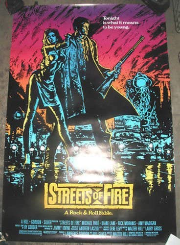 STREETS High order OF FIRE ORIGNAL U.S. POSTER Outlet sale feature MICHAEL MOVIE ONE SHEET